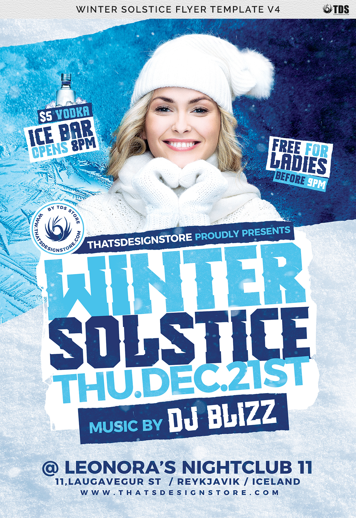 Winter Solstice Flyer Template V4 example image 7