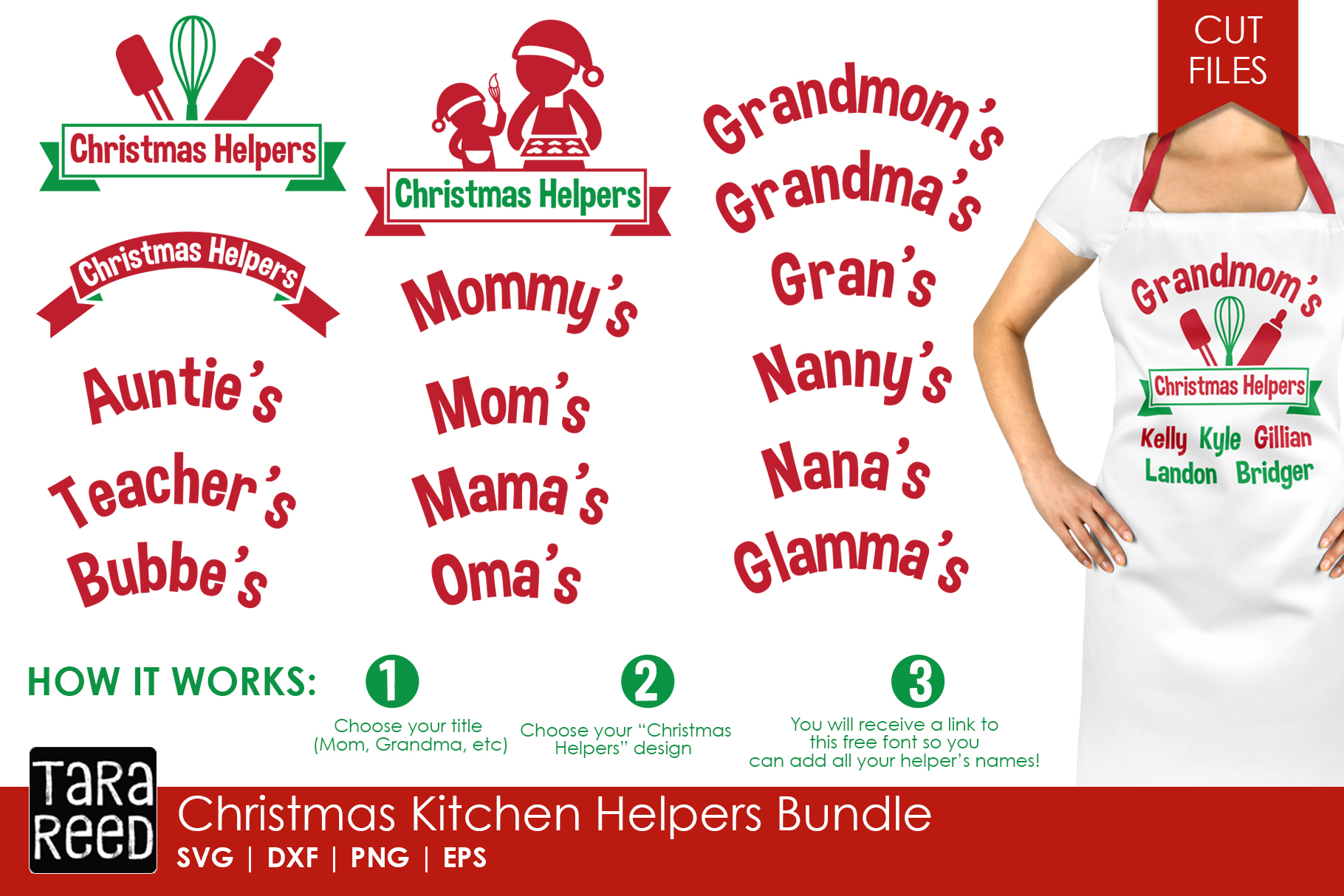 Christmas in the Kitchen MEGA Bundle - Crafter SVG Files example image 5