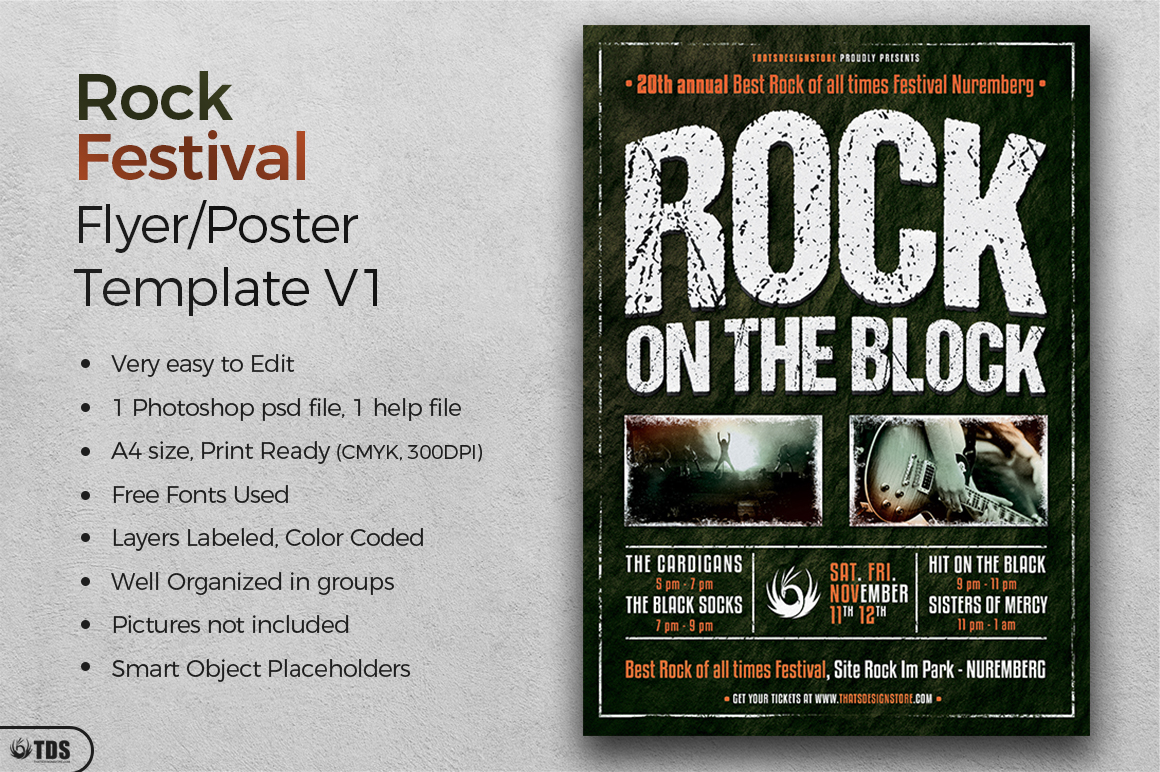 Rock Festival Flyer Template V1 example image 2