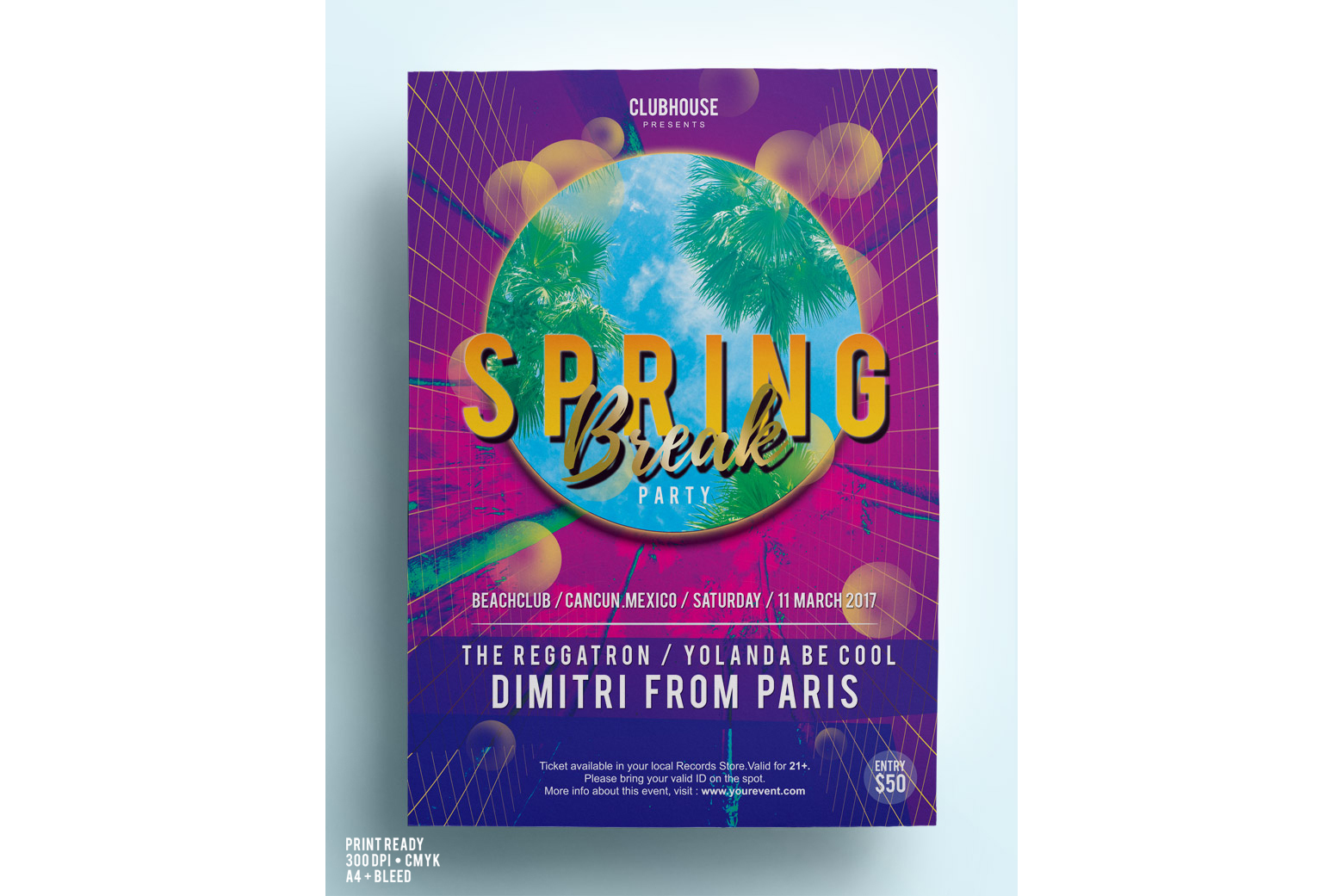 Spring Break Party Flyer example image 2