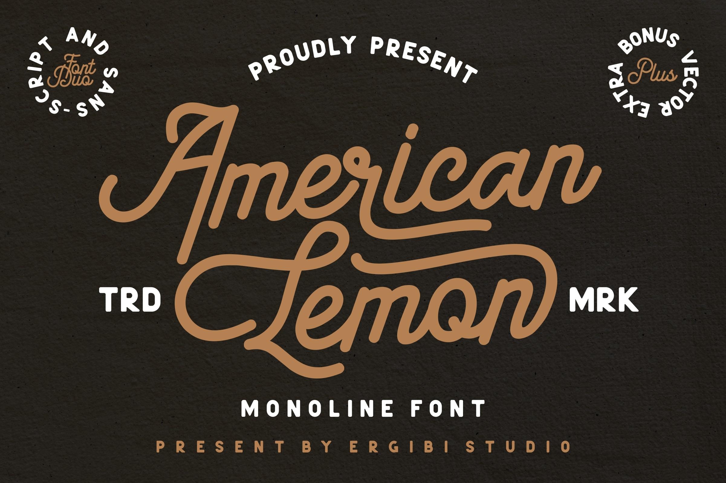 American Lemon Font Duo example image 1