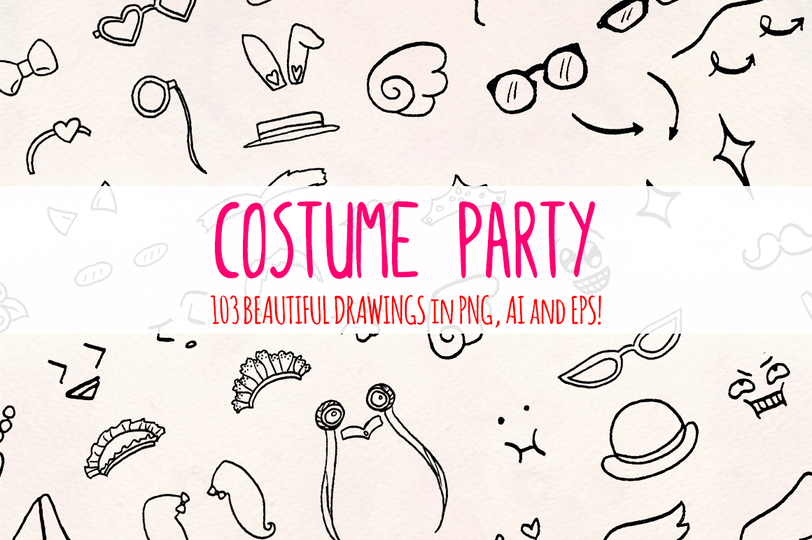 Costumes -103 Fun Dress Up Outfits Vector Bundle example image 2