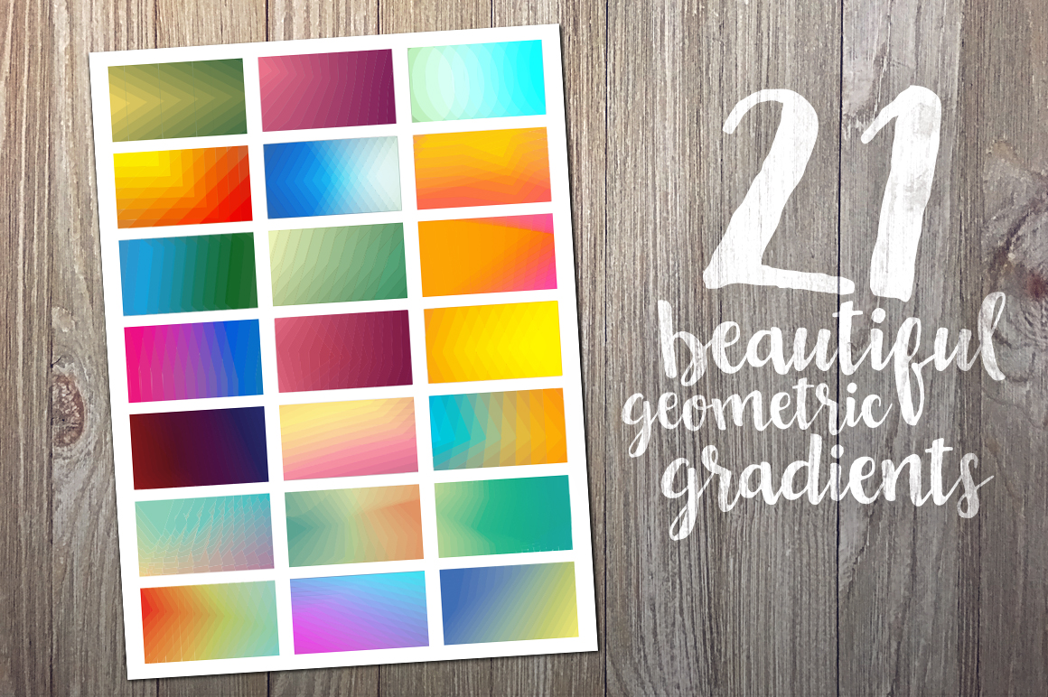 Geometric Gradient Polygon Backgrounds Collection example image 2