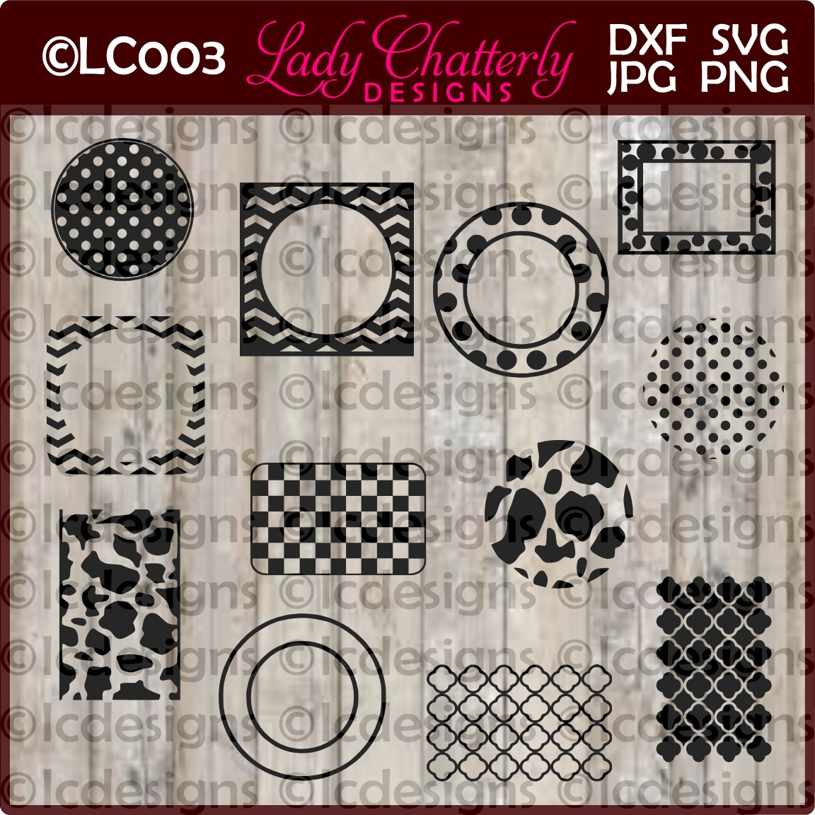LC003 - Monogram Frames and Patterns II example image 1