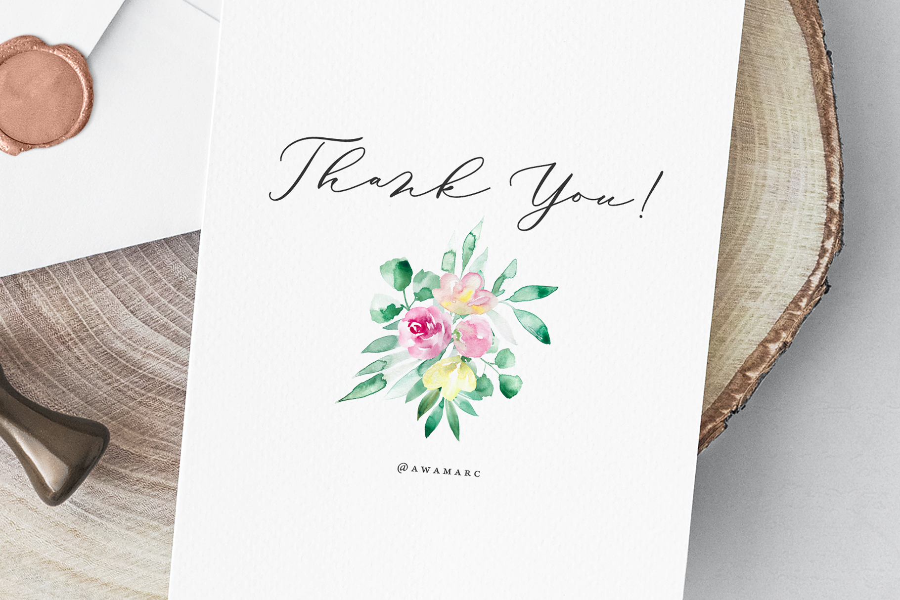 Pastel watercolor spring floral illustrations example image 8
