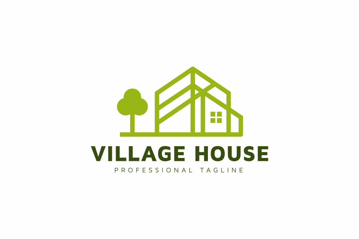 Village House Logo example image 1