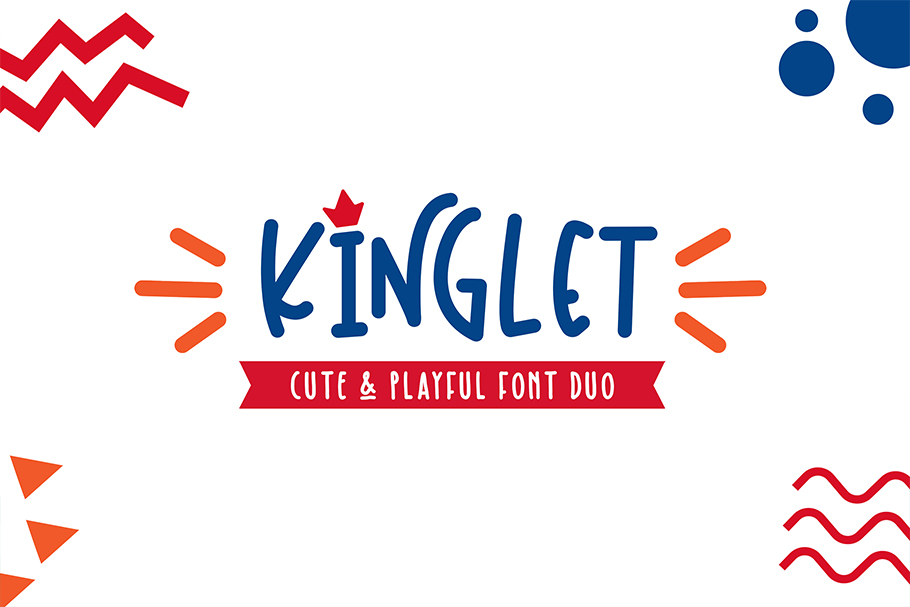 Kinglet - Cute Font Duo With Extras  example image 12