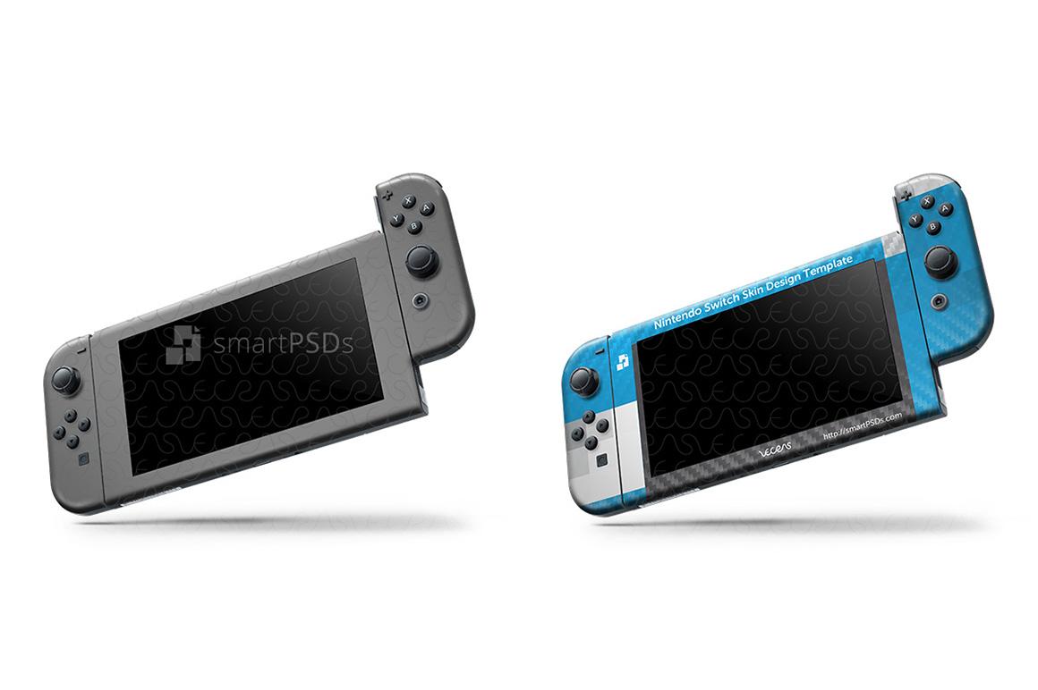 Nintendo Switch Skin Design Template- 7 Views example image 5
