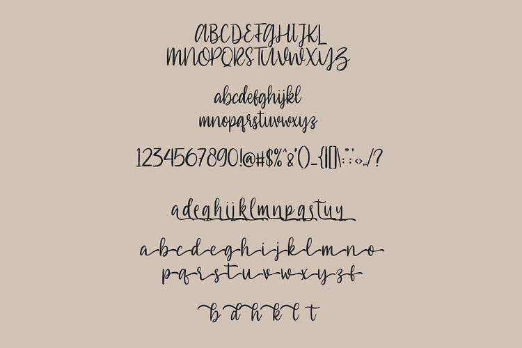 Southiya - Modern Calligraphy Font example image 7