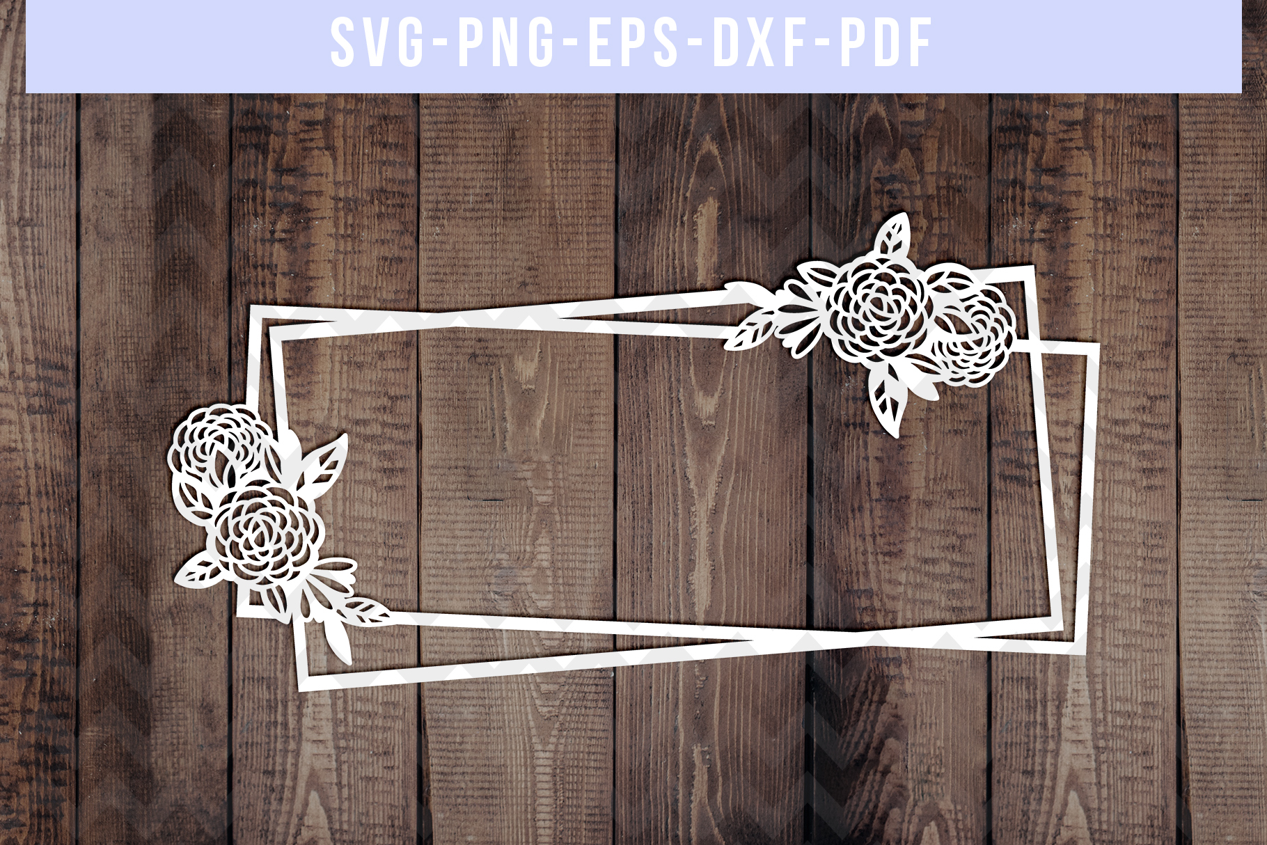 Bundle Of 9 Geometric Frame Papercut Templates, SVG, PDF DXF example image 9