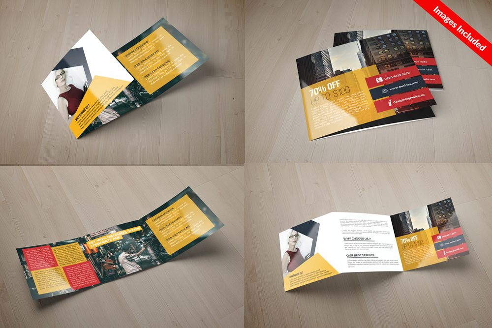 25 Square Trifold Business Brochures Bundle example image 26