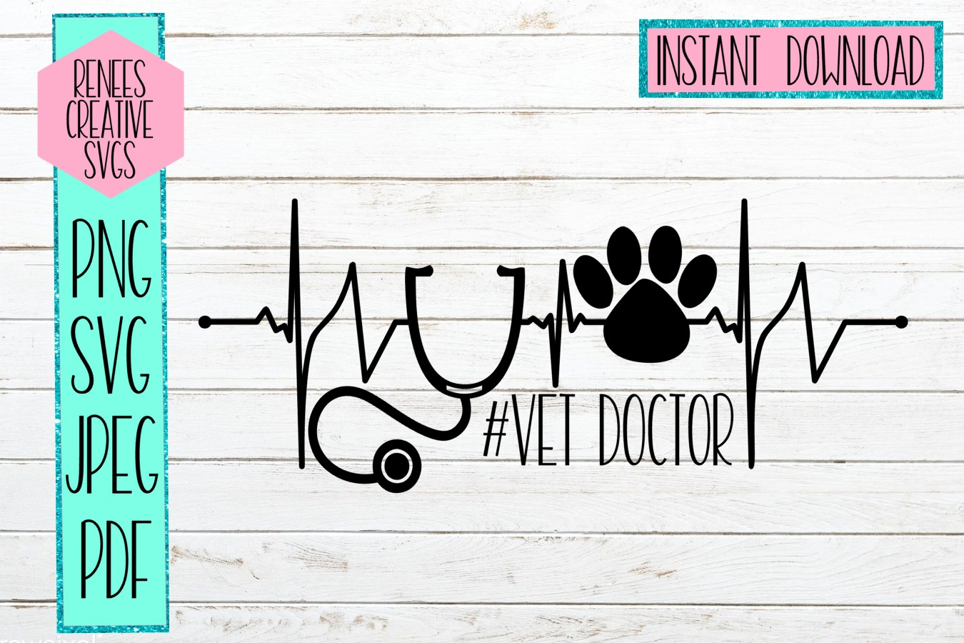 VetDoctor   Veterinary Doctor  SVG Cutting File example image 1