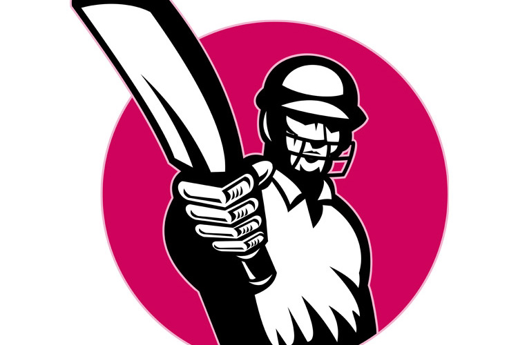 cricket player batsman pointing bat example image 1