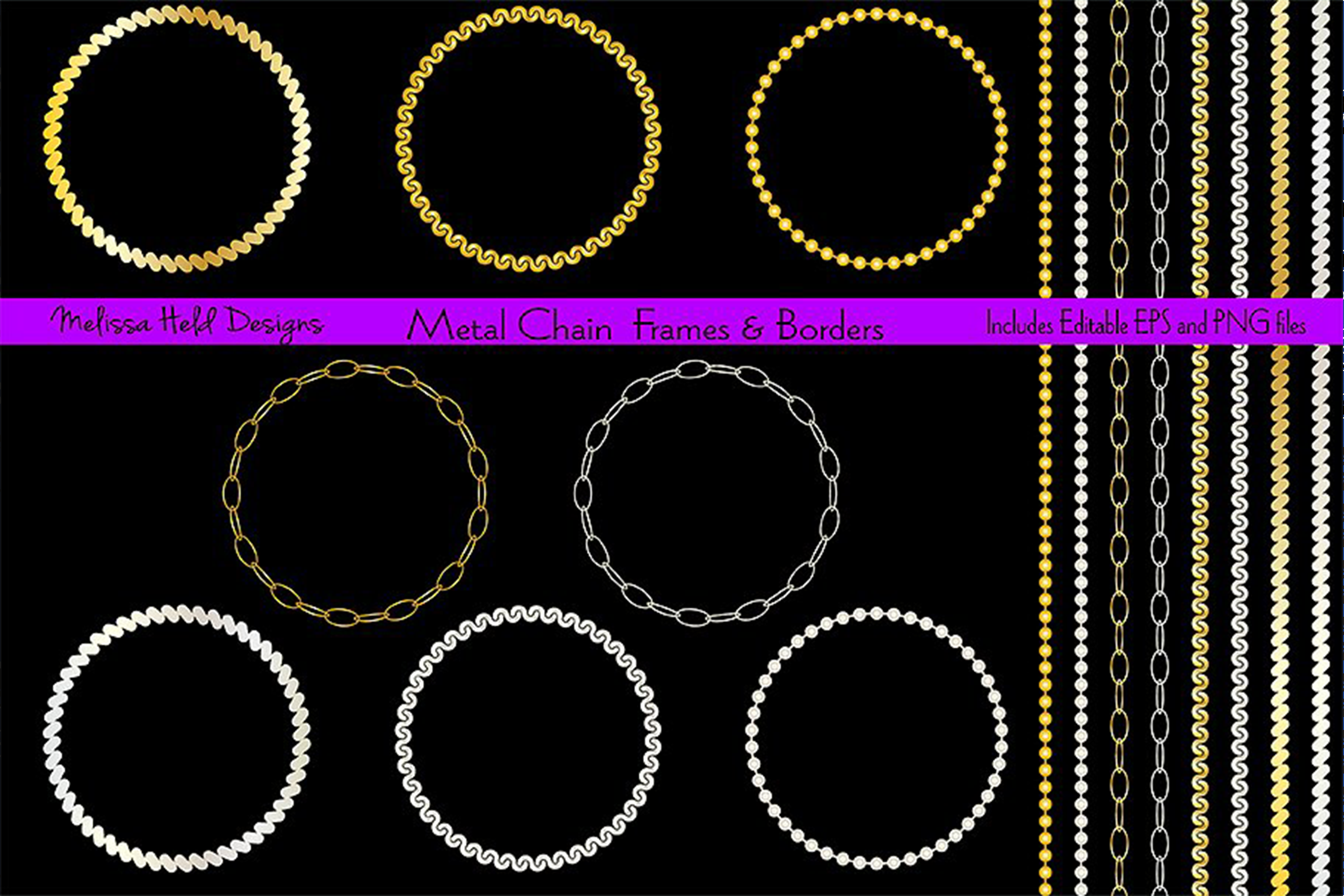 Metal Chain Frame & Border Patterns example image 1