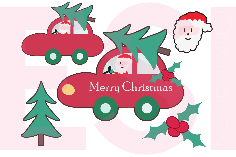 Christmas Car Design Set  example image 1