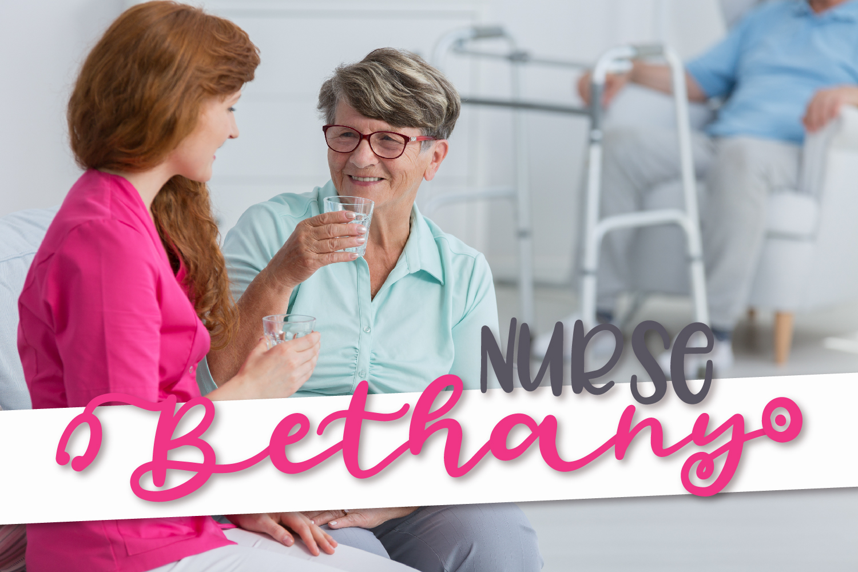 Stethoscope Script - A Nurse Font example image 5