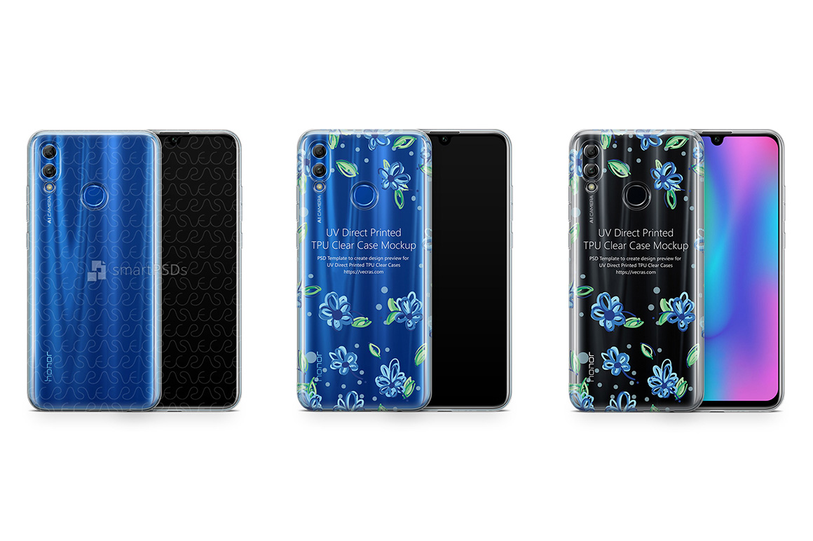 Honor 10 Lite TPU Clear Case Mockup 2018 example image 1