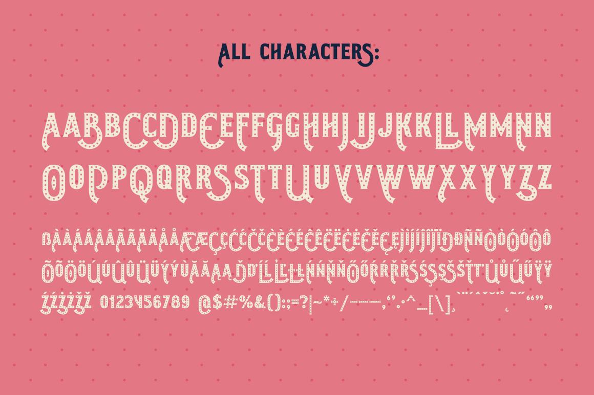 Shining Night font + bonus example image 4