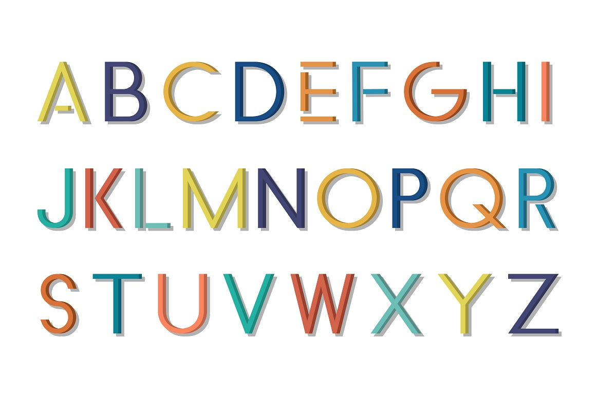 Colorful font - english alphabet example image 5