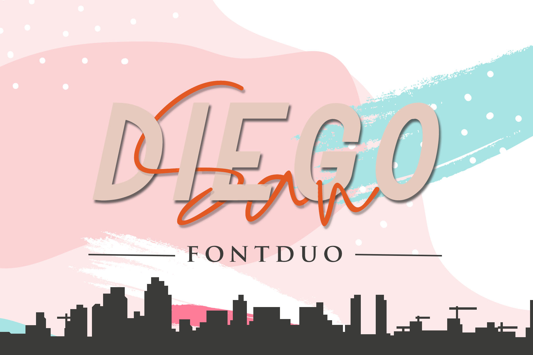 San Diego - Font Duo with Extra Logo Template example image 1