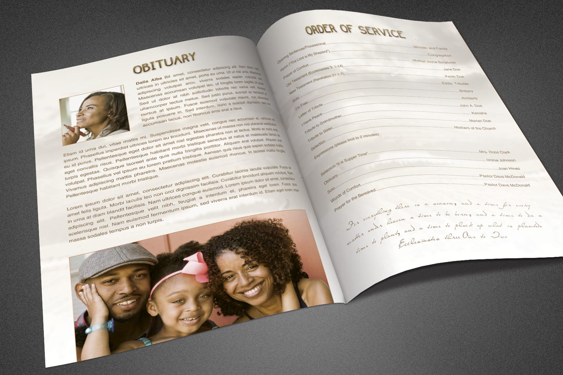 Heavens Gateway Funeral Program example image 3