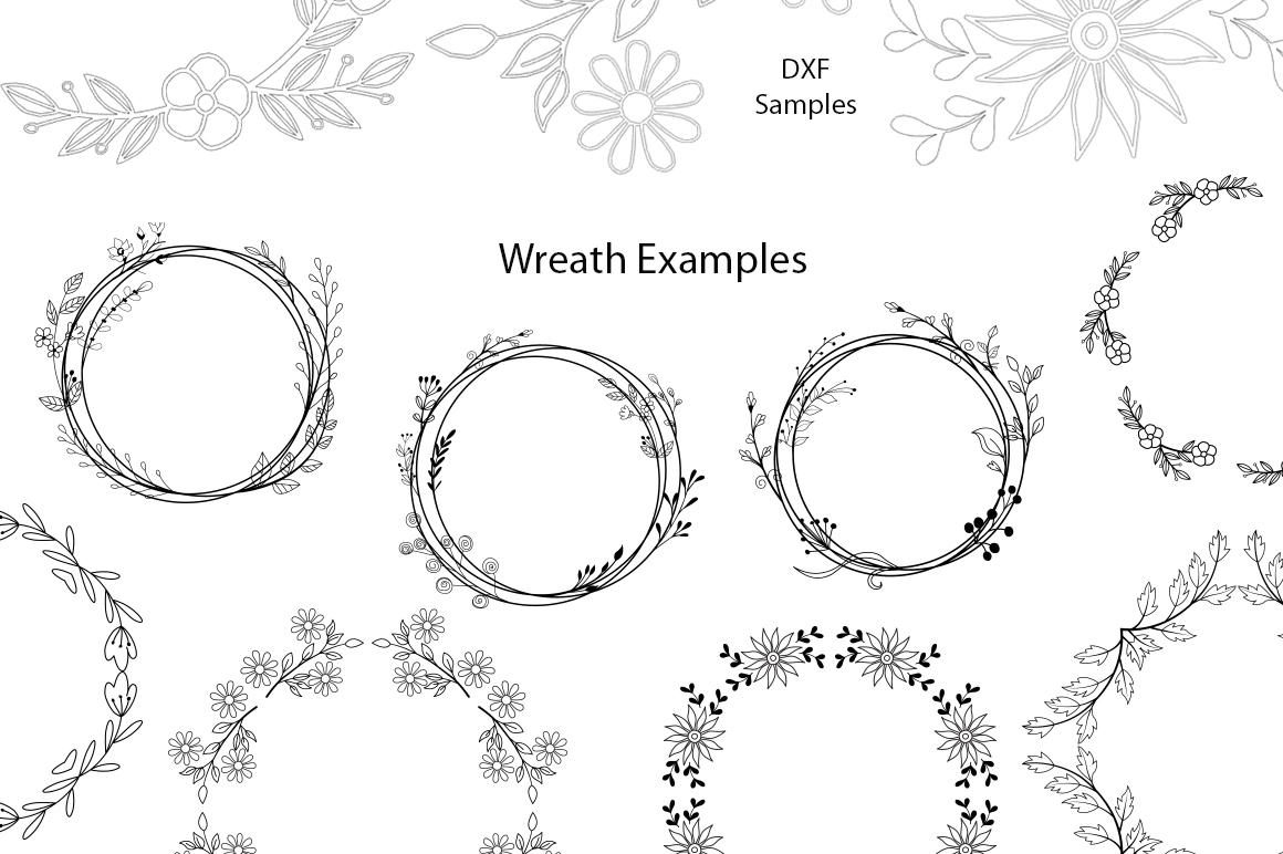 26 Wreath Designs Bundle - SVG DXF PNG - Cut Files example image 3