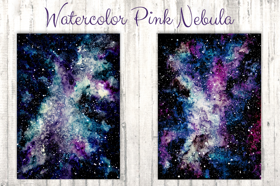 Watercolor Pink Nebula Collection example image 4