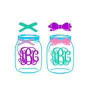 Mason Jar SVG example image 1