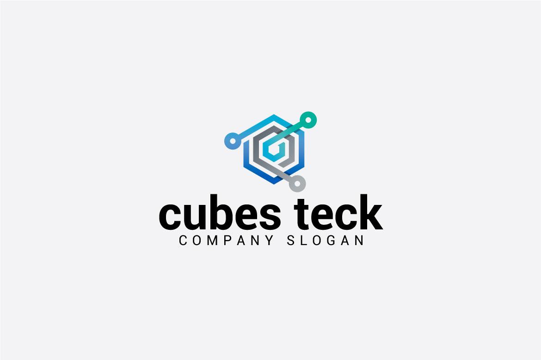 cubes teck logo example image 2