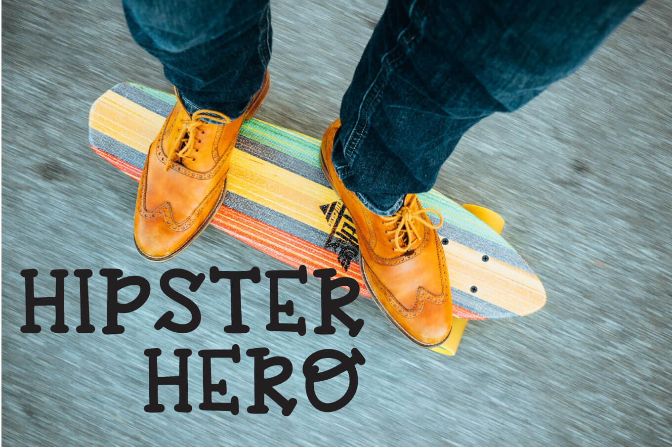 Hipster Hero - A Trendy Hand-lettered Font example image 1