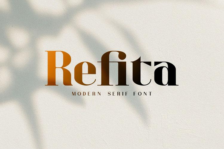 Refita. Modern Serif Font example image 1