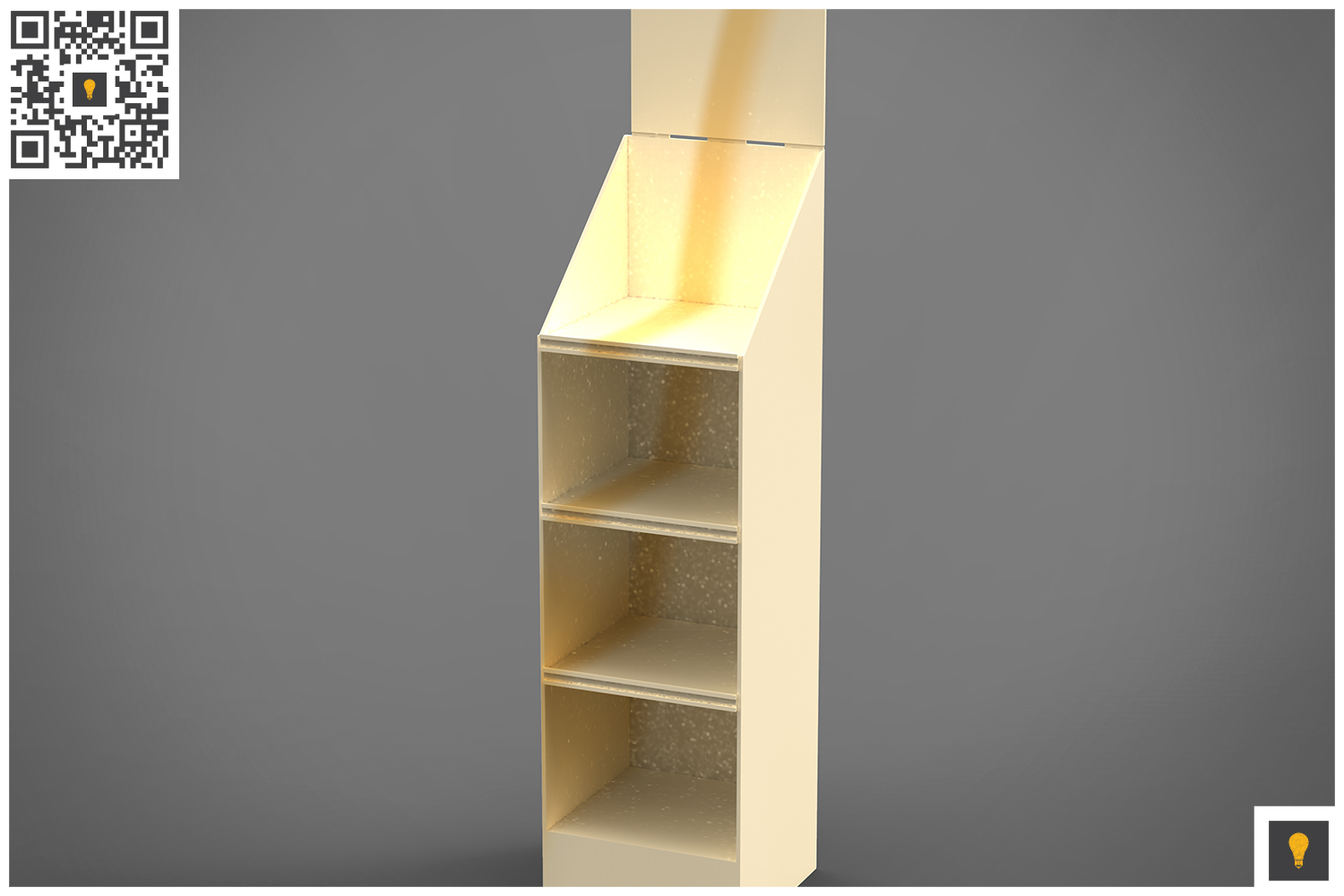 Promotional Store Shelf Stand 3D Render example image 13