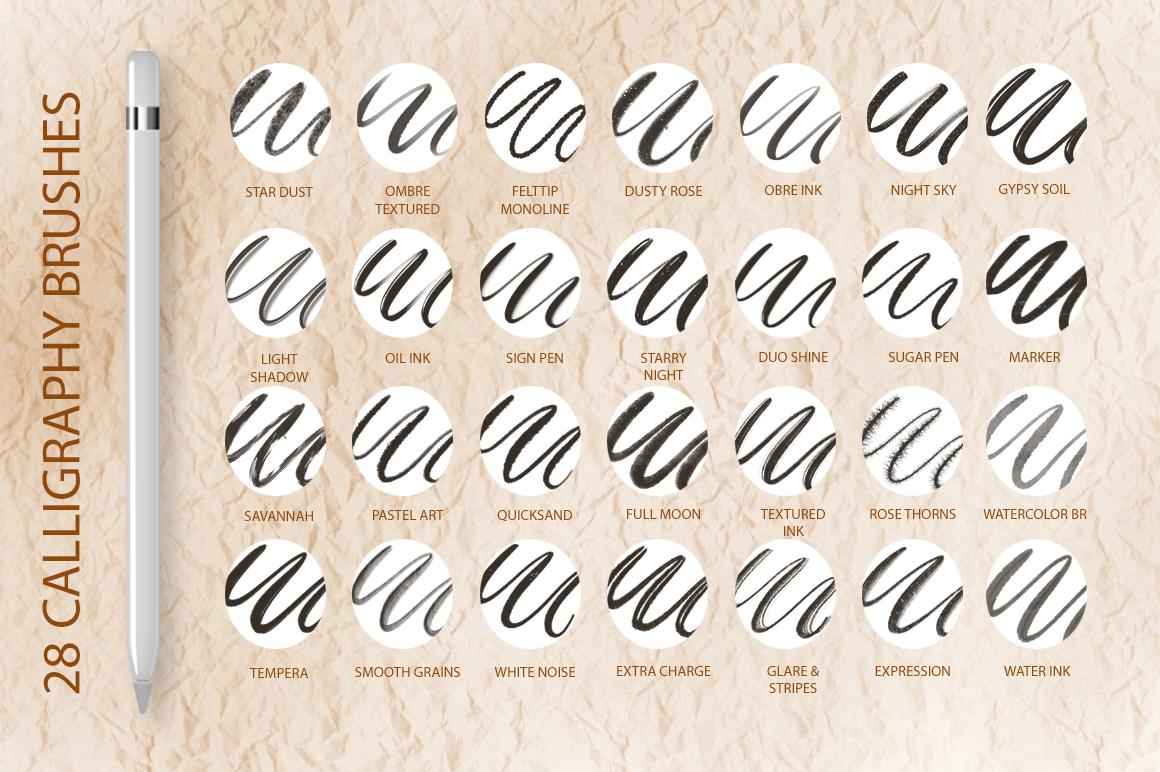 Better Letter. Procreate Brush Set. example image 3