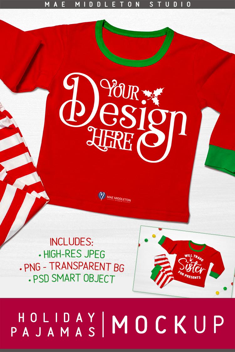 Christmas mock up - Holiday Pajamas example image 4