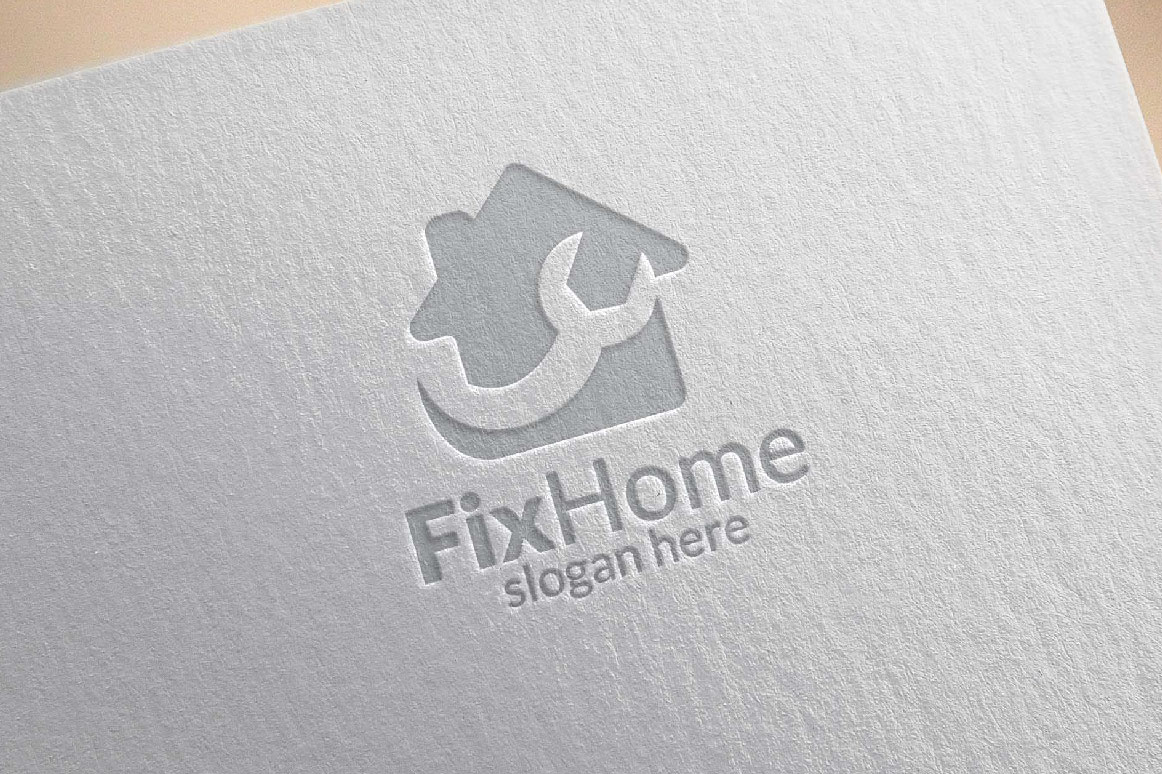 Real estate Logo, Fix Home Vector Logo Design suitable for architecture,  handyman,bricolage,Diy,and for another application company example image 4