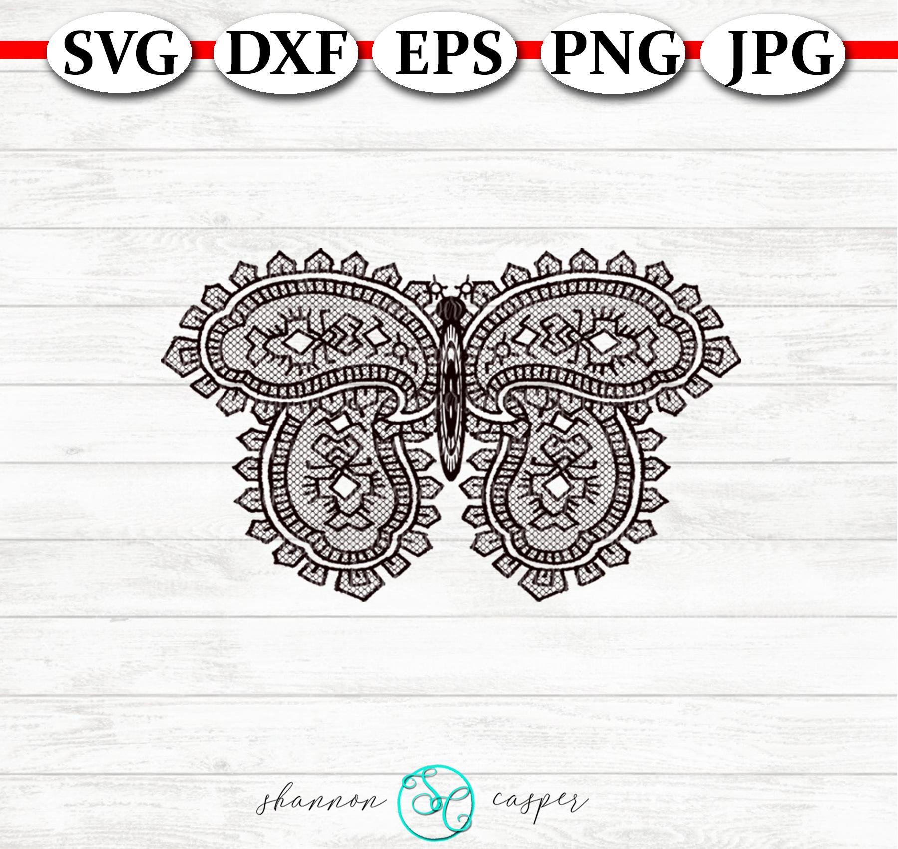 Lace Paisley Butterflies SVG Bunde example image 5
