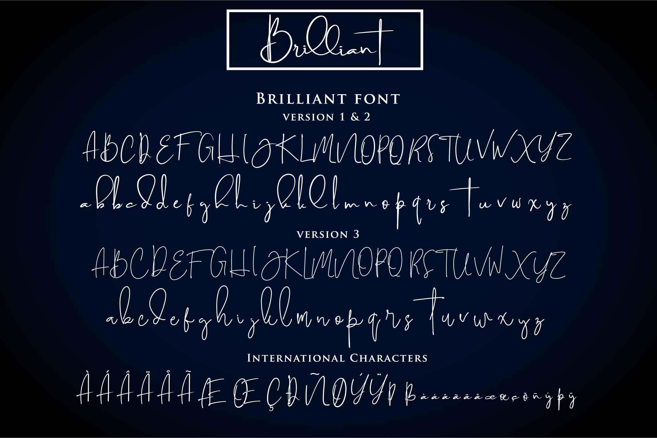 Brilliant - 3 Signature Font example image 2