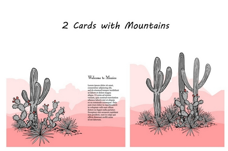 Wild Cacti Planet. Vector collection example image 3