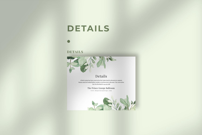 Eucalyptus Wedding Invitation Suite example image 4