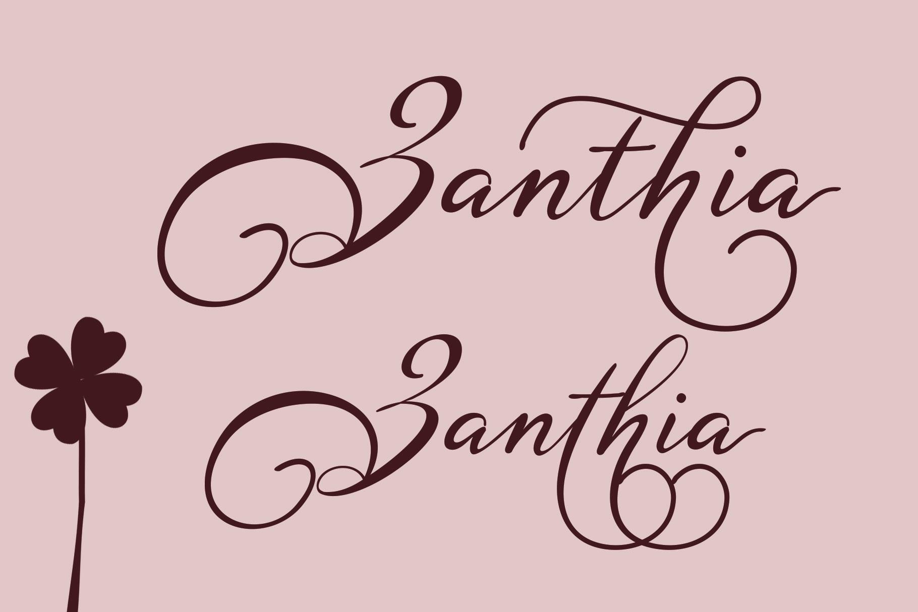 Zanthia Script example image 5