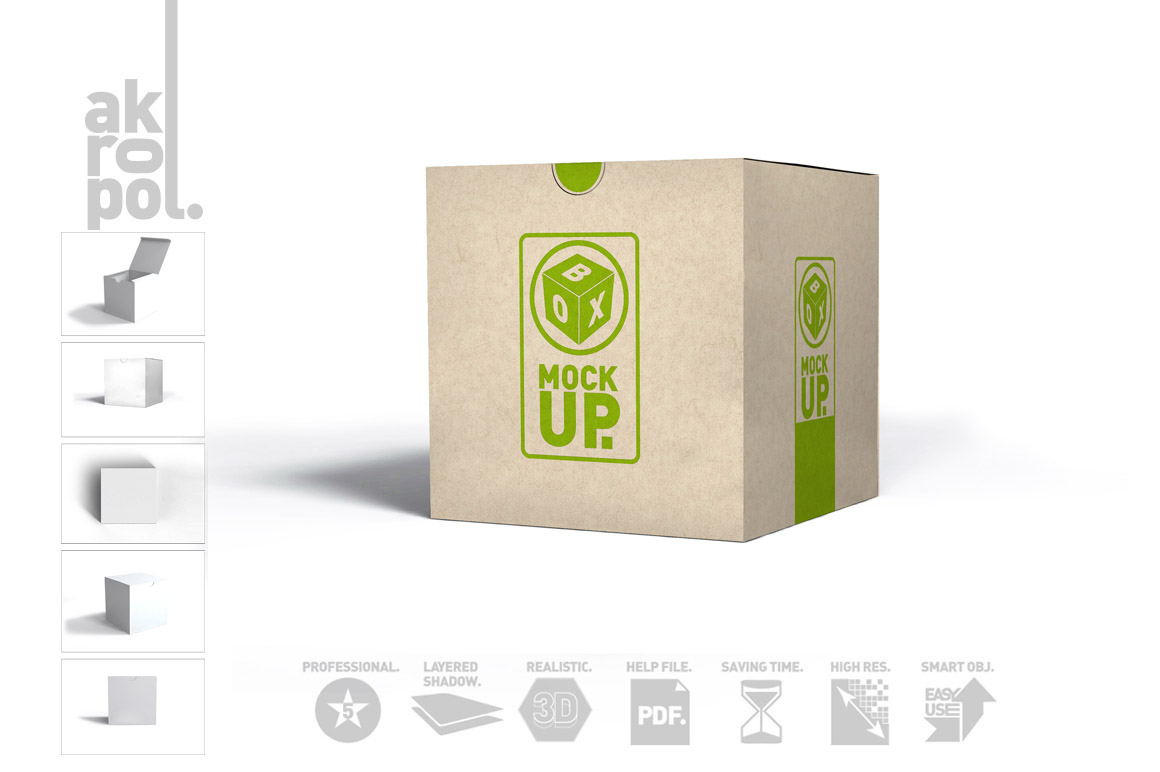 Package Box Mockups example image 8