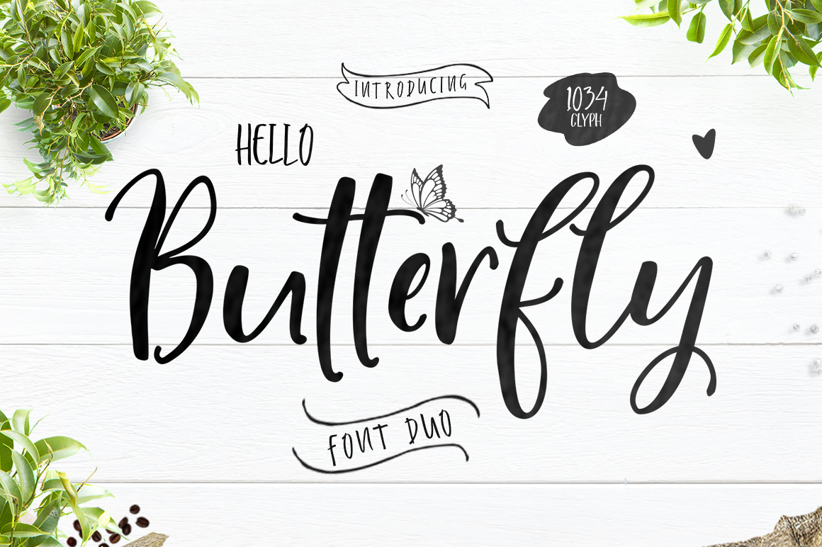 Hello Butterfly-Font Duo example image 1