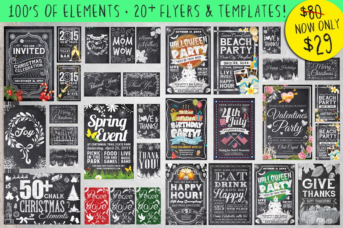 Mega Chalk Holiday Bundle 60 off example image 1