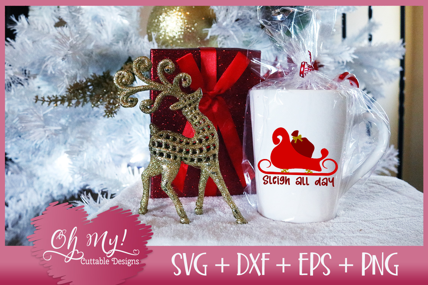 Sleigh All Day - SVG DXF EPS PNG Cutting File example image 5