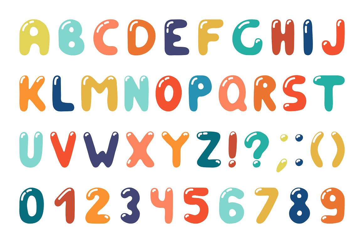 Colorful alphabet in doodle style example image 3