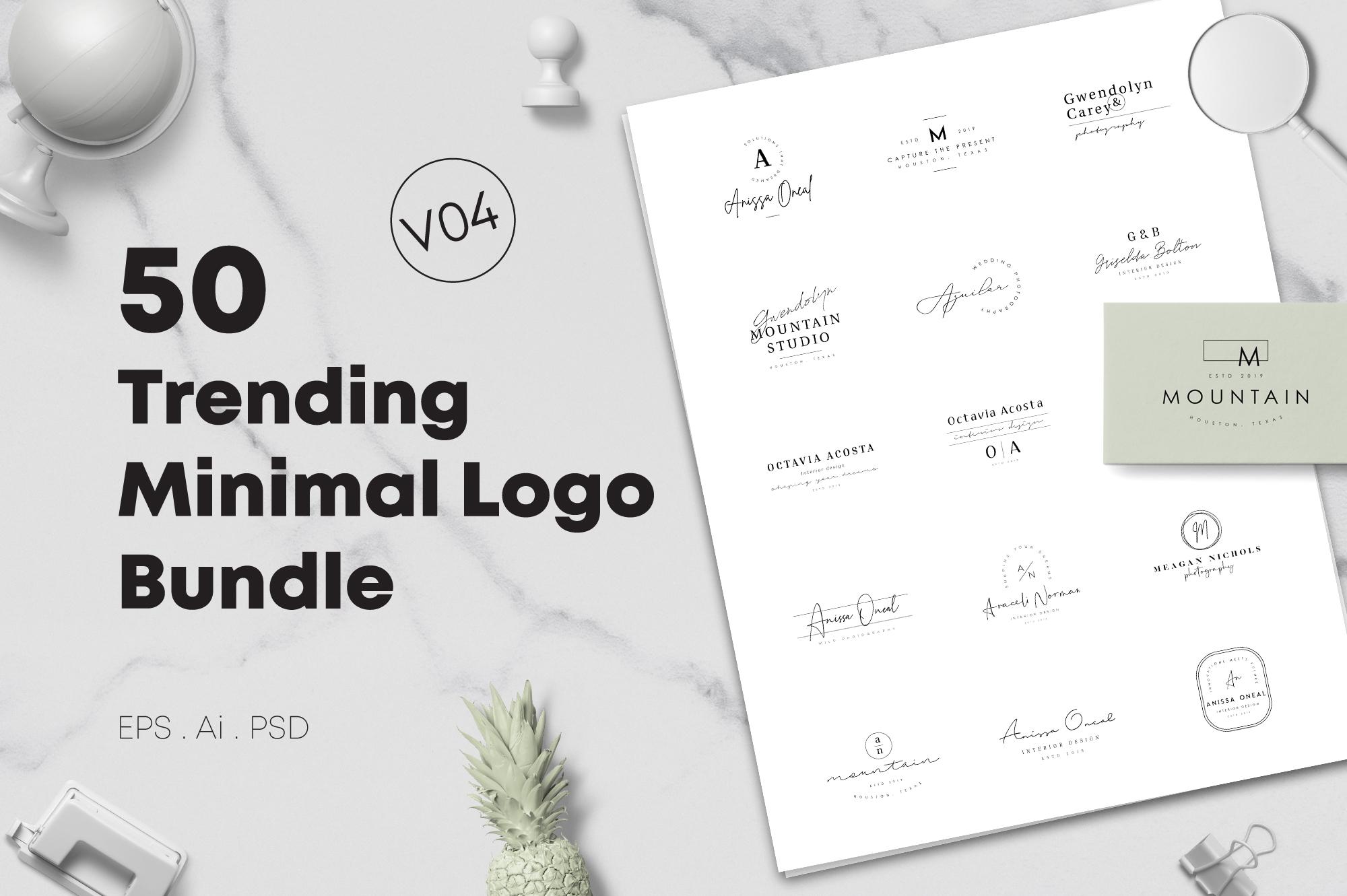 200 Trending Minimal Logo Bundle example image 21