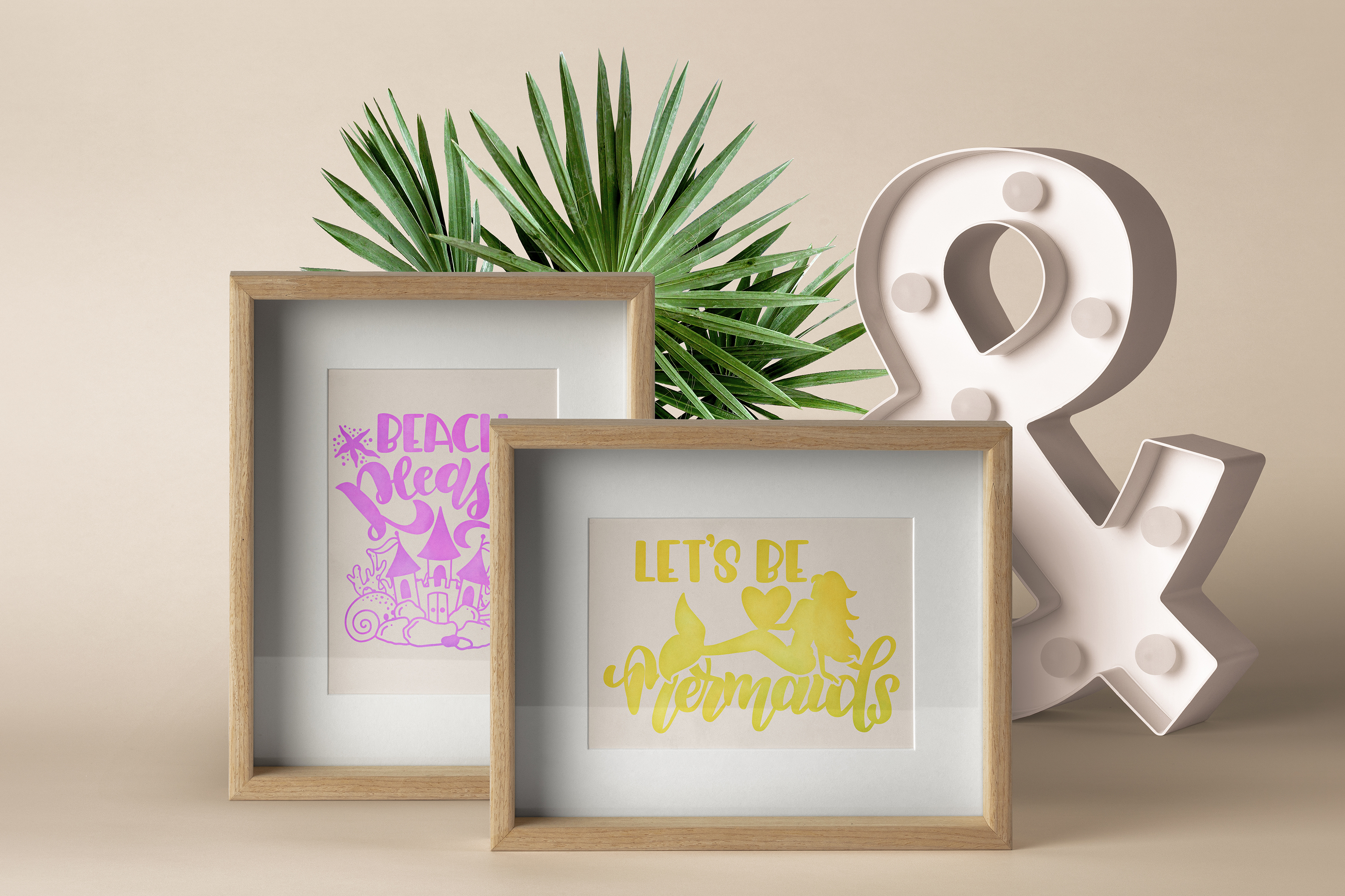 Mermaid svg bundle Lettering quotes Beach Summer Foil quill example image 3