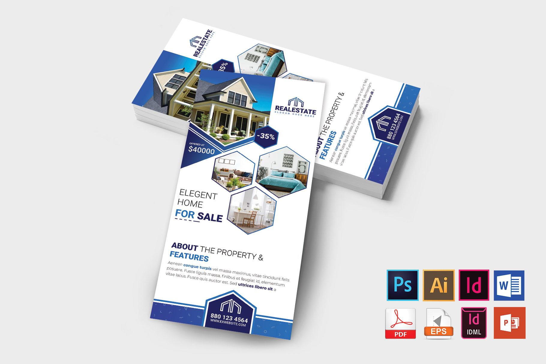 Rack Card   Real Estate DL Flyer Vol-01 example image 2