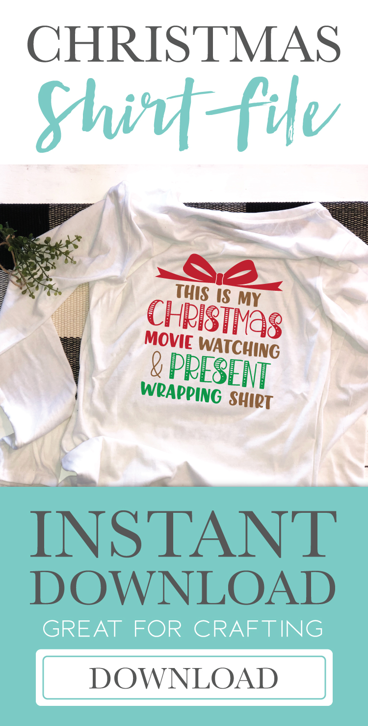 Christmas Movie Watching Shirt SVG DXF Cut File example image 2