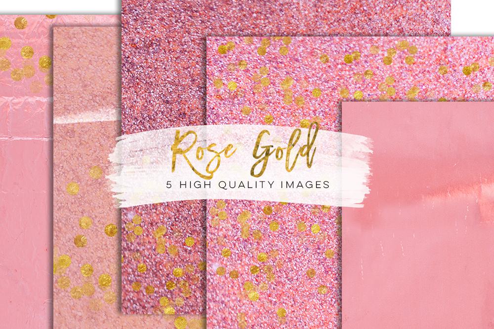 pink peach rose gold digital download texture, graphic design paper, rose gold texture paper, rose paper, pink floral confetti glitter art example image 2